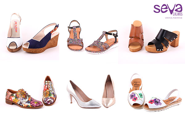 4ca2ecd452421 Colección Primavera verano Mujer zapatos al por mayor Calzados Seva ...