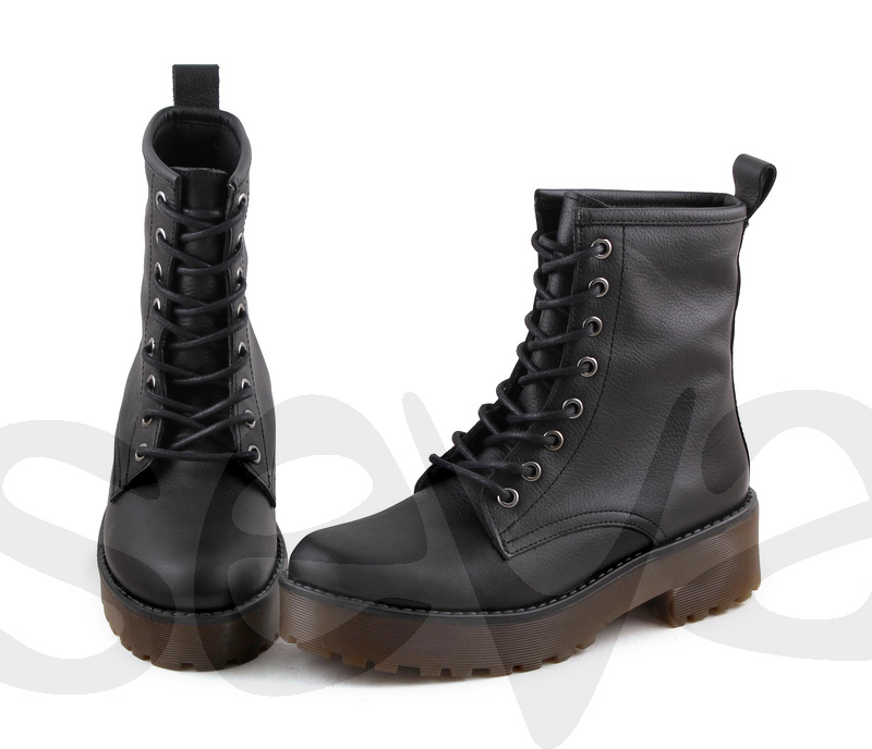 Para estrenar f6c3e 3ffec Estilo militar: botas de cordones para mujer - Calzados Seva