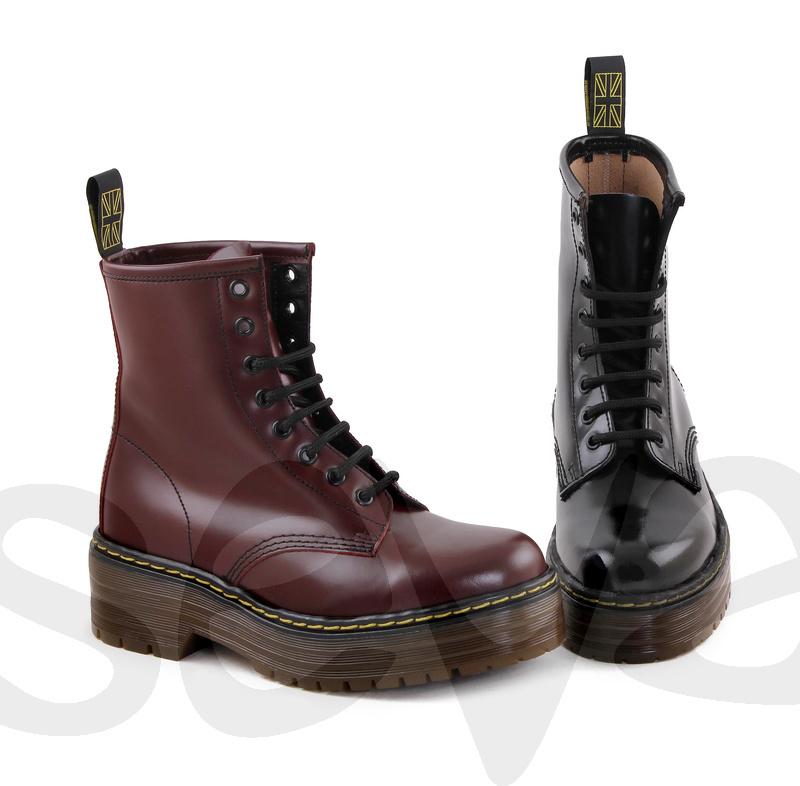para toda la familia fábrica auténtica último Estilo militar: botas de cordones para mujer - Calzados Seva