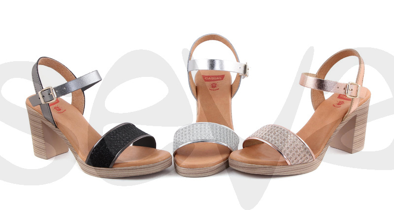 CASUAL              H042CA · SANDAL WOMAN LEATHER