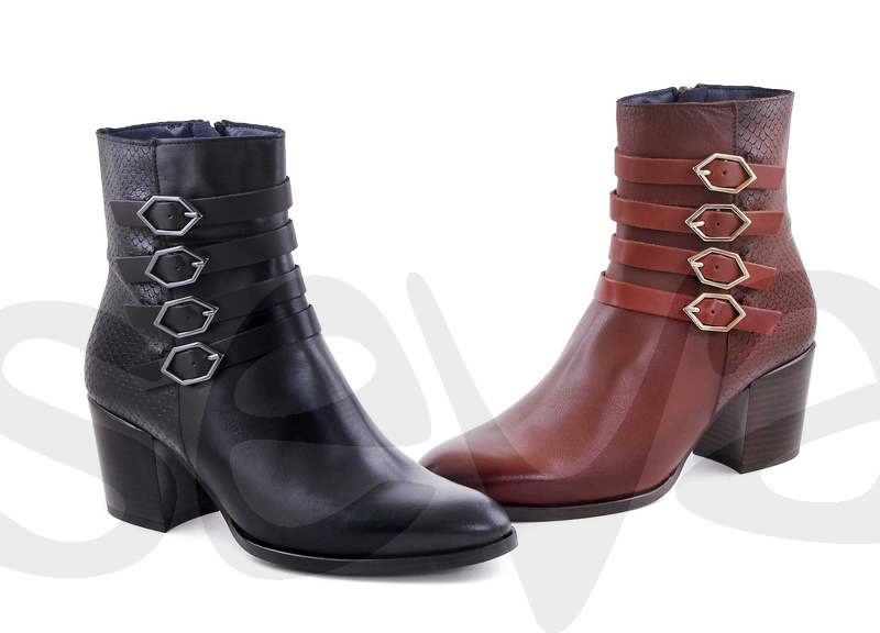 AMELIE ESSENCE              3609AE · ANKLE BOOT WOMAN LEATHER